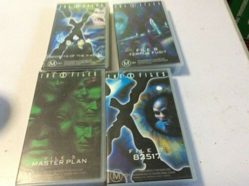 VHS MOVIES X 4.THE X FILES.FILES 5,7,8 + SECRETS OF THE X FILES