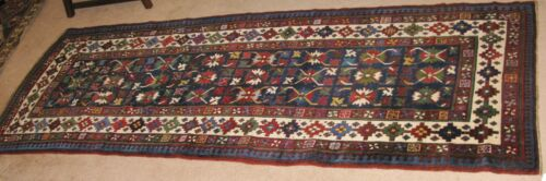 "ANTIQUE SHIRVAN RUNNER  9' 6"" x 3' 4"", c.1890 - 1900"