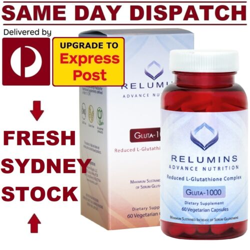 Relumins 1000mg Reduced L-GLUTATHIONE COMPLEX Advanced WHITENING DOUBLE STRENGTH