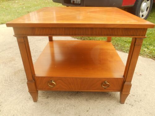 Awesome Baker Walnut Nightstand Design By Michael Taylor For Baker Furniture