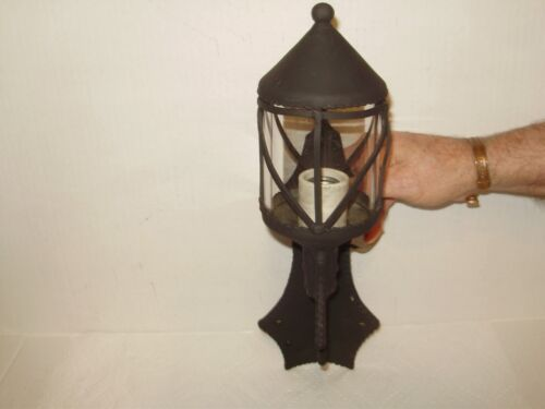 ANTIQUE GOTHIC TUDOR  WALL LIGHT LATE 1800S! PEWTER, & IRON HARRY POTTER #1578