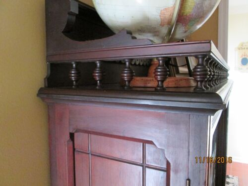 Walnut  Book case ( EASTLAKE) 1870's  with Glass double doors - Victorian