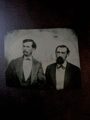 """William """"Bloody Bill"""" Anderson and Jo Shelby  tintype C1002RP"""
