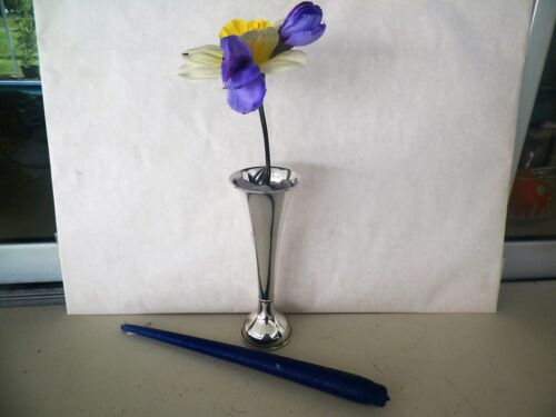 UNIQUE STERLING SILVER TRUMPET VASE CONVERTS TO CANDLESTICK INTERNATIONAL