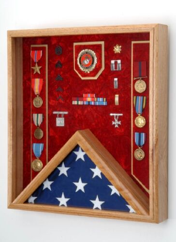 Military Shadow Box - For 3x5 Flag - All Military Branch of Service availableOther Militaria - 135