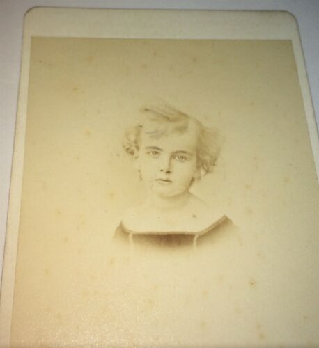 Rare Antique ID'd European Entomologist Auguste Barbey as Child! CDV Photo! Old!