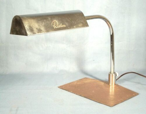 "VINTAGE MID CENTURY MODERN ""REVLON"" COUNTER TOP CHROME AND COPPER LAMP"