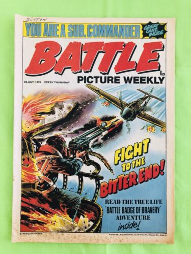 Battle Picture Weekly. British Comic Book. 26 July 1975 Very Good Condition.