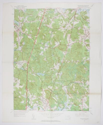 Georgetown Quadrangle Massachusettes Vintage USGS Topographic Chart Topo Map