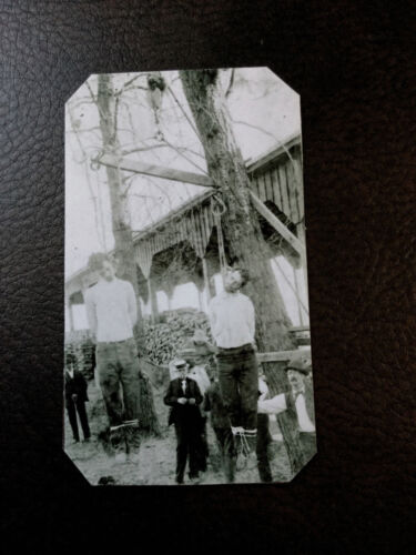 HANGING OF JOHN AND CHARLES RUGGLES - STAGECOACH ROBBERS tintype C588RP