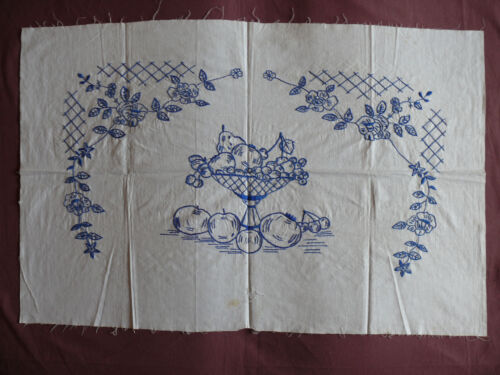#1681  Beautiful Vintage Embroidery Hand Made Tapestry  88cm/57cm(35''x22.5'')