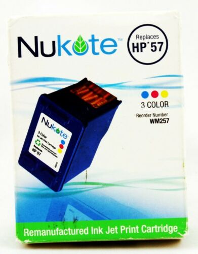 Nukote Cartridge Replacement HP57 3 Color Ink Jet Print cartridge Authentic New