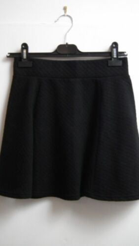 Black Textured Skaters Skirt from Divided size Small