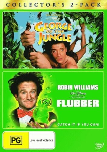 GEORGE OF THE JUNGLE + FLUBBER - BRAND NEW & SEALED DOUBLE DVD (WALY DISNEY)
