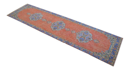 """3x12 Majestic Hand Knotted Turkish Oushak Runner Distressed Hallway Rug 38""""x144"""""""