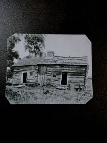 tintype of Abraham Lincoln Cabin  C590NP