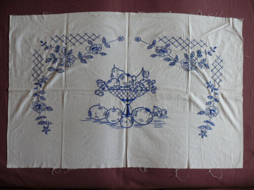 #1689  Beautiful Vintage Embroidery Hand Made Tapestry  88cm/57cm(35''x22.5'')