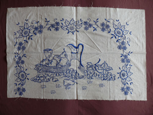 #1687  Beautiful Vintage Embroidery Hand Made Tapestry  88cm/58cm(35''x23'')