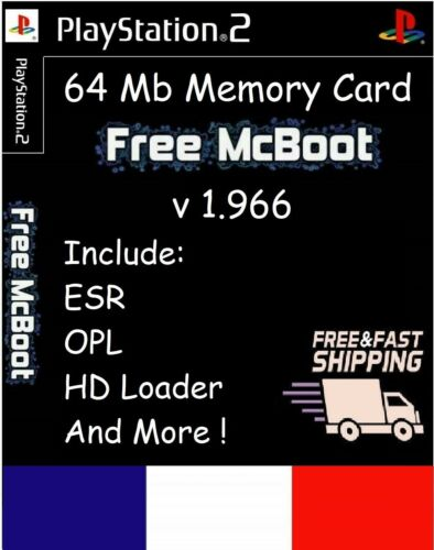 Free McBoot FMCB 1.966 Sony PlayStation 2 PS2 64 Mb Memory Card opl mc boot esr