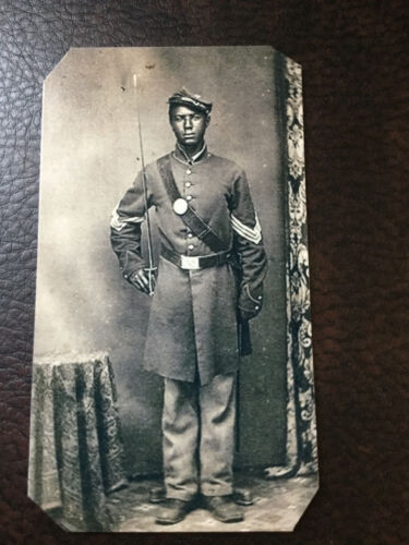 Civil War African American Union Soldier tintype #C841RP