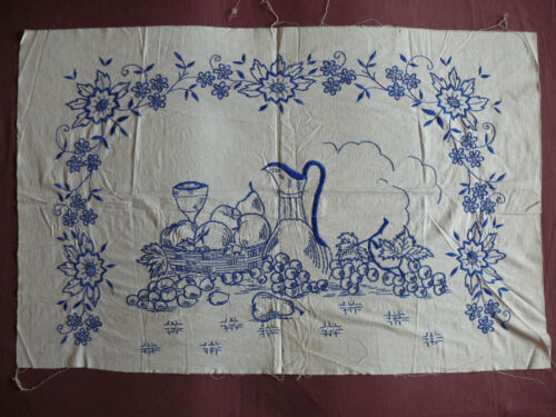 #1690  Beautiful Vintage Embroidery Hand Made Tapestry  88cm/58cm(35''x23'')