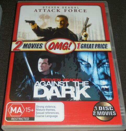 DOUBLE FEATURE - ATTACK FORCE & AGAINST THE DARK DVD (STEVEN SEAGAL) REGION 4