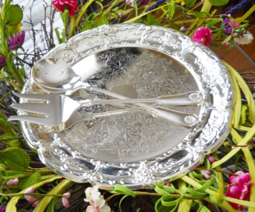 Frank M. Whiting Fine Silver Plate Salad Set Vintage Collectible Fork & Spoon