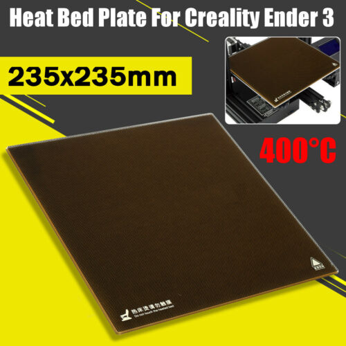 AU For Creality 3D Printer Ender 3 235X235mm Borosilicate Glass Heat Bed Plate