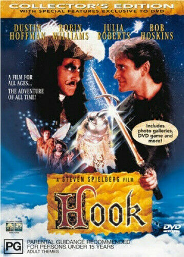 DVD HOOK COLLECTORS EDITION LIKE PETER PAN ROBIN WILLIAMS BRAND NEW UNSEALED