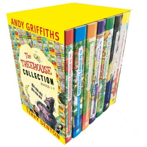 New The Treehouse Collection Box Set: Books 1-7 By Andy Griffiths