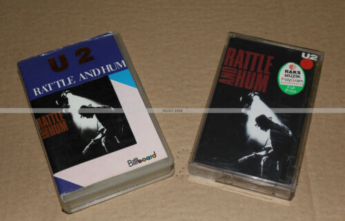 U2 - LOT DE 2 K7 RATTLE AND HUM - MOYEN-ORIENT ET TURC (NEUF) - COLLECTOR