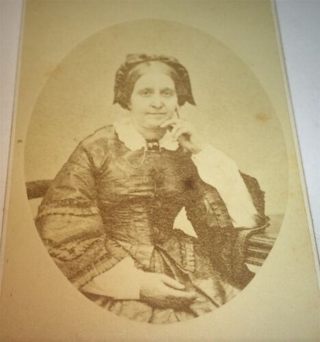 Antique Victorian American Fashion Lovely Middle Aged Woman! Boston MA CDV Photo