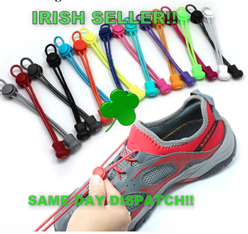 No Tie Shoe Laces Easy Lock Shoelaces Elastic Shoelaces 100cm <br/> IRISH STOCK✓SAME DAY DISPATCH✓CHOOSE FROM 19 COLOURS!!