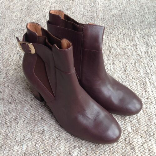 Riva Brown Genuine Leather Ankle Boots UK4