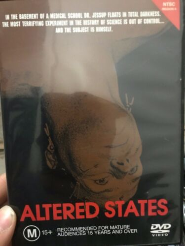 Altered States region 4 DVD (1980 Ken Russell / William Hurt sci-fi horror movie