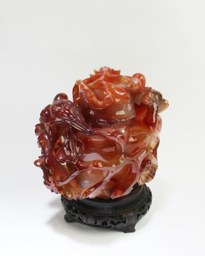 Antique Chinese Carved Agate Vase