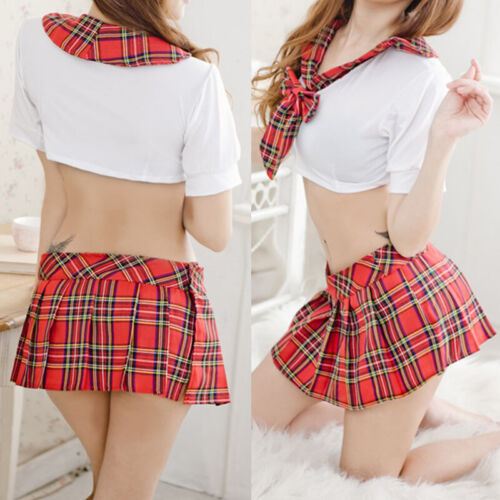 7ec16481666 Sexy Women Naughty School Girl Secretary uniform Outfit Fancy Dress Costume  Lady