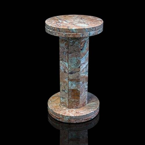 Colonna Base Classica in Marmo Fior di Pesco Italian Marble Column Base H.45cm