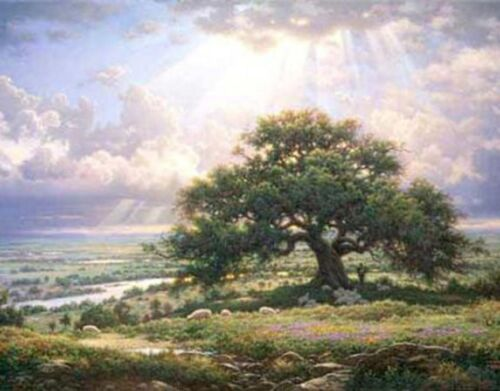 Touch Of Art Christian Art Print The Everlasting Arms by Larry Dyke