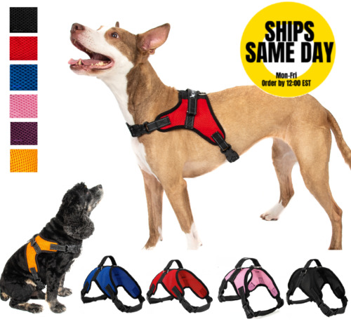 Pet Control Harness for Dog Soft Mesh Walk Large Small Medium XXL Pink Red Black <br/> 4PAWSPETS✔TRUSTED US SELLER✔100% FEEDBCK✔AMERICAN OWNER
