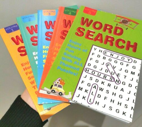 5 x Word Search Book brend new Puzzle Books Volume 1-5