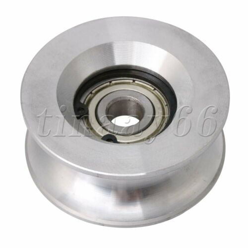 V-Shape Metal Pulley Bearings Wheel 10x90x11mm for Wire Rope Hanging
