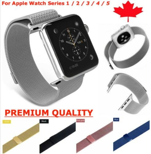 Magnetic Stainless Milanese Loop Band Strap for Apple Watch Series 1 2 3 4 5