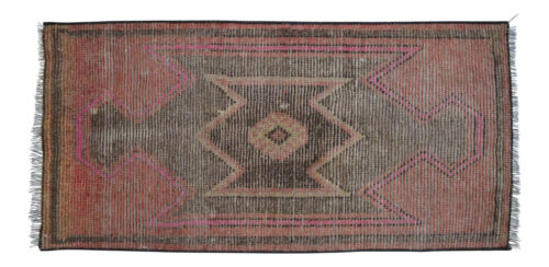 "SMALL OUSHAK RUG -  MAT - 1'7"" x 3'2"" - ENTRYWAY MAT - KITCHEN MAT - BATH MAT"