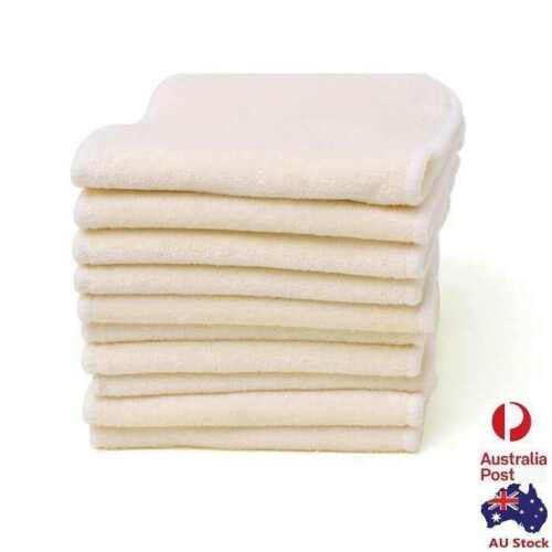 15 X Reusable 4 layers 100% Pure Bamboo inserts Liner for cloth nappy diaper