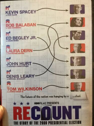Recount - The Story Of The 2000 Presidential Election region 1 DVD (2008 movie)