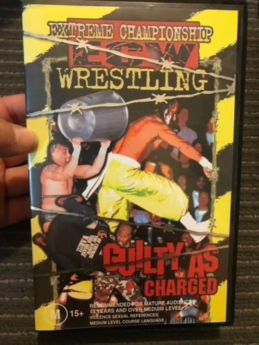 ECW Wrestling - Guilty As Charged 2000 VHS TAPE (wrestling wwe wcw) RVD vs Sabu