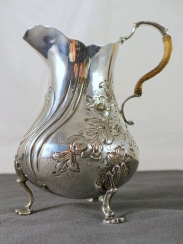 Antique Hallmarked Sterling Silver Cream/Milk Jug - 1848-  par Hyam Hyams London