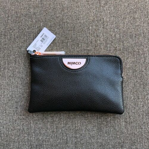 MIMCO BLACK ROSE GOLD PATENT LEATHER SMALL POUCH WALLET RRP $69.95