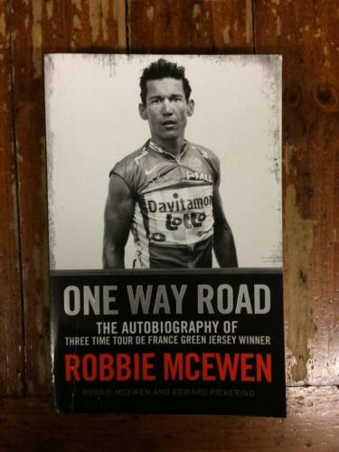 ROBBIE MCEWEN ONE WAY ROAD CYCLING GREAT RARE SIGNED BOOK COA